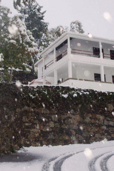 Casa durante um nevão